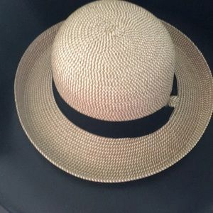Vince Camuto Upturned Hat with black Ribbon